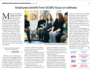 Image of newspaper article explaining OCSB Top Employer award