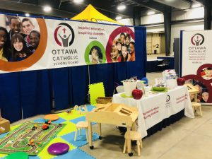 Photo of OCSB booth with kids toys