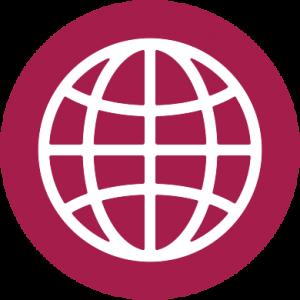 Graphic of globe to symbolize citizenship