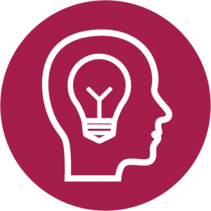 Graphic of light bulb to symbolize creativity