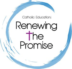 "Logo saying ""Renewing the Promise"""