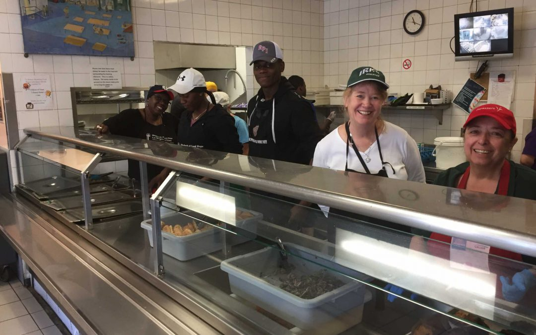 Students and staff embark on day of service
