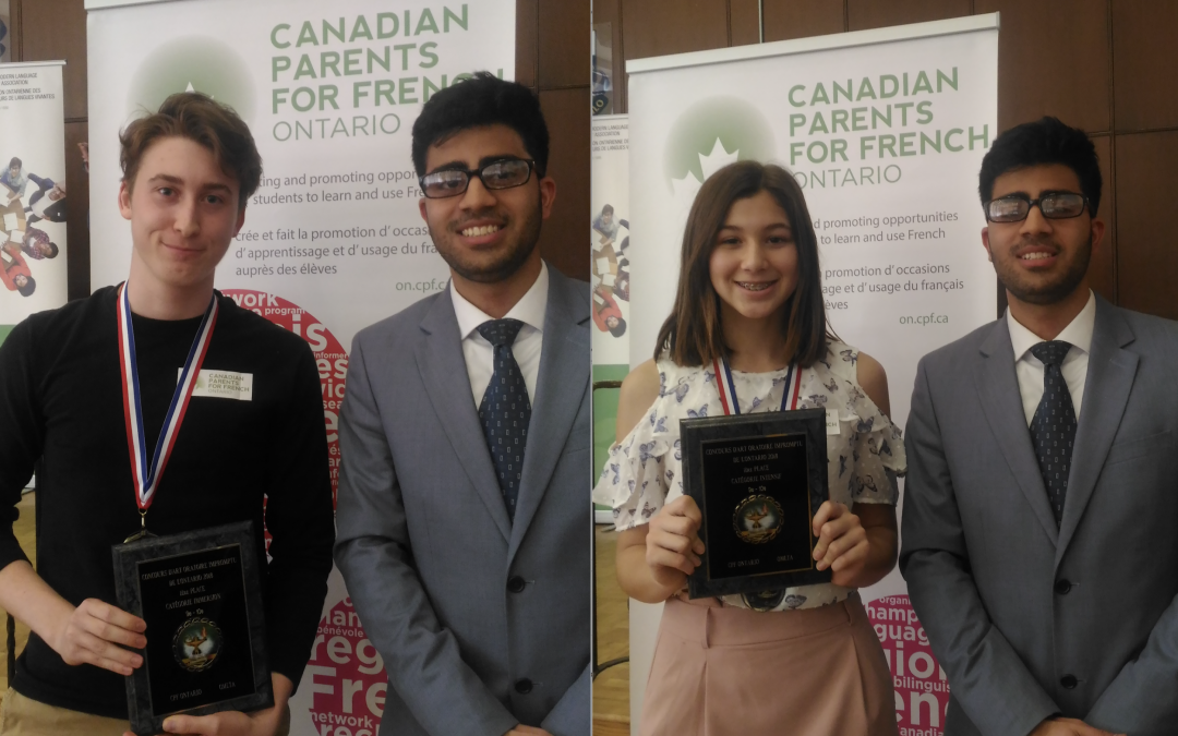 Congratulations to our two first place French public speaking winners