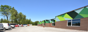 Photo of exterior of school construction site