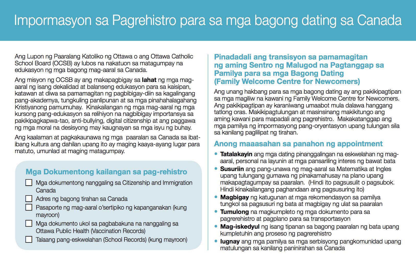 Tagalog - OCSB