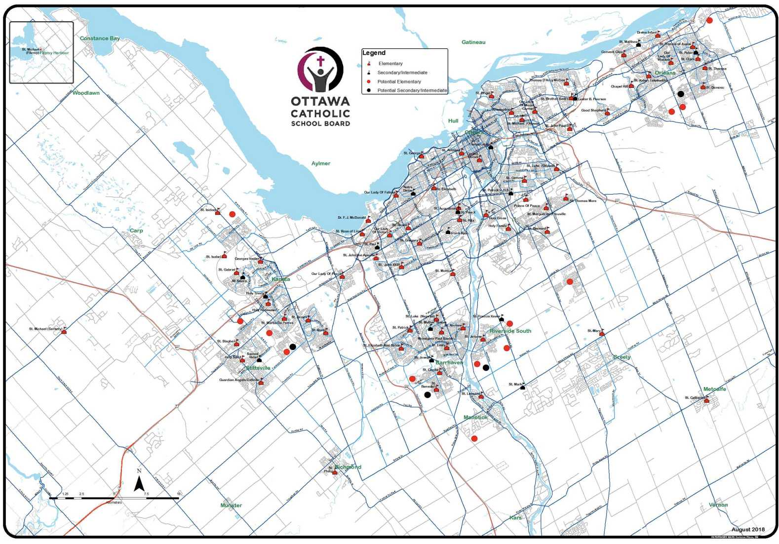 OCSB school boundary maps greenbelt map image