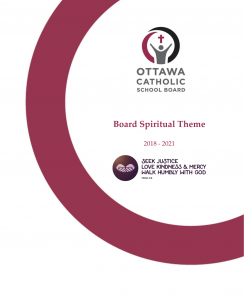 Image of cover of Spiritual Theme booklet