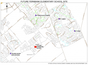Image of geographical map of location of new school