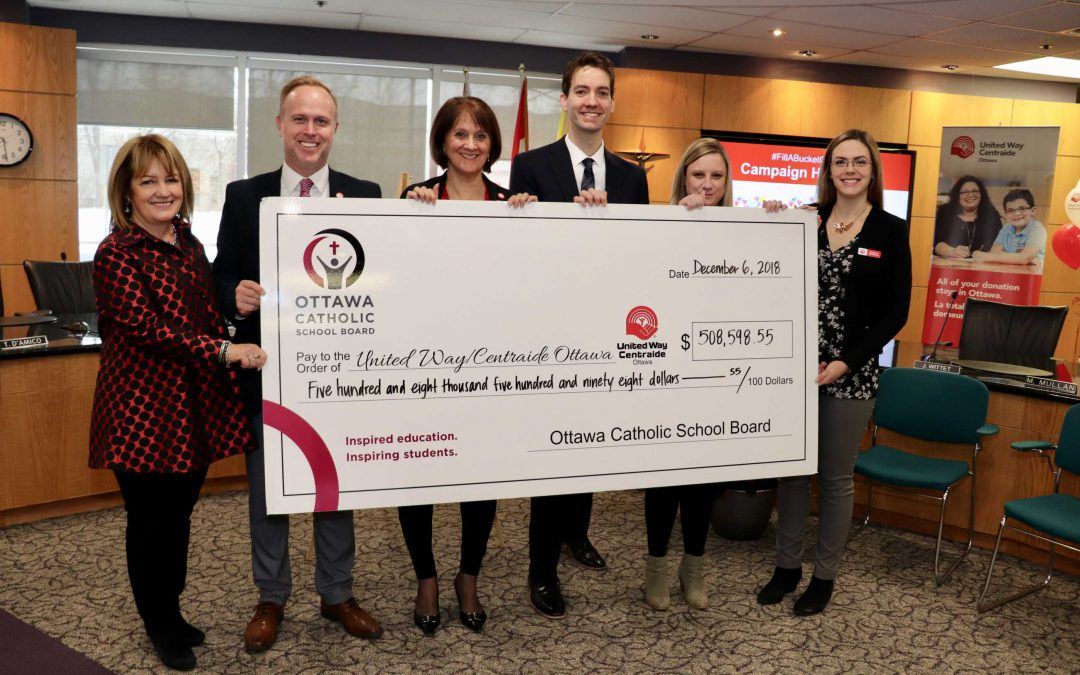 Filling buckets with half a million dollars: OCSB's United Way Campaign