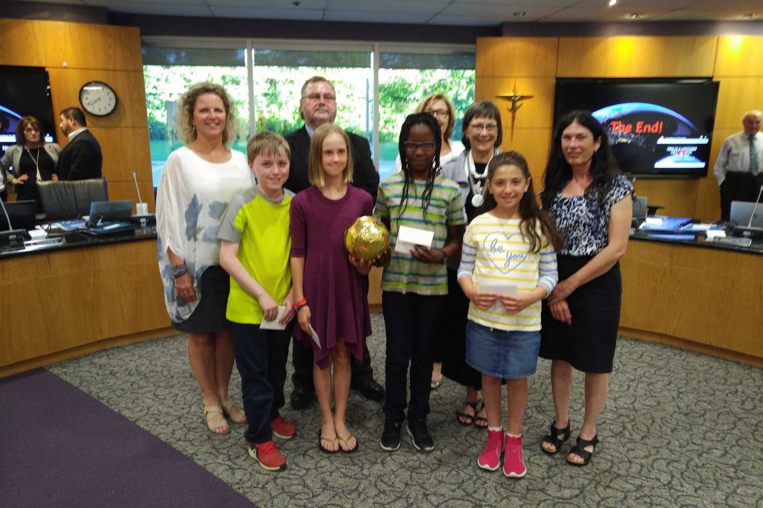 The Grade 4 Enviro-Busters from Chapel Hill Carholic School
