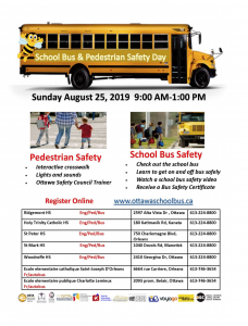 Poster for School Bus & Pedestrian Safety Day 2019