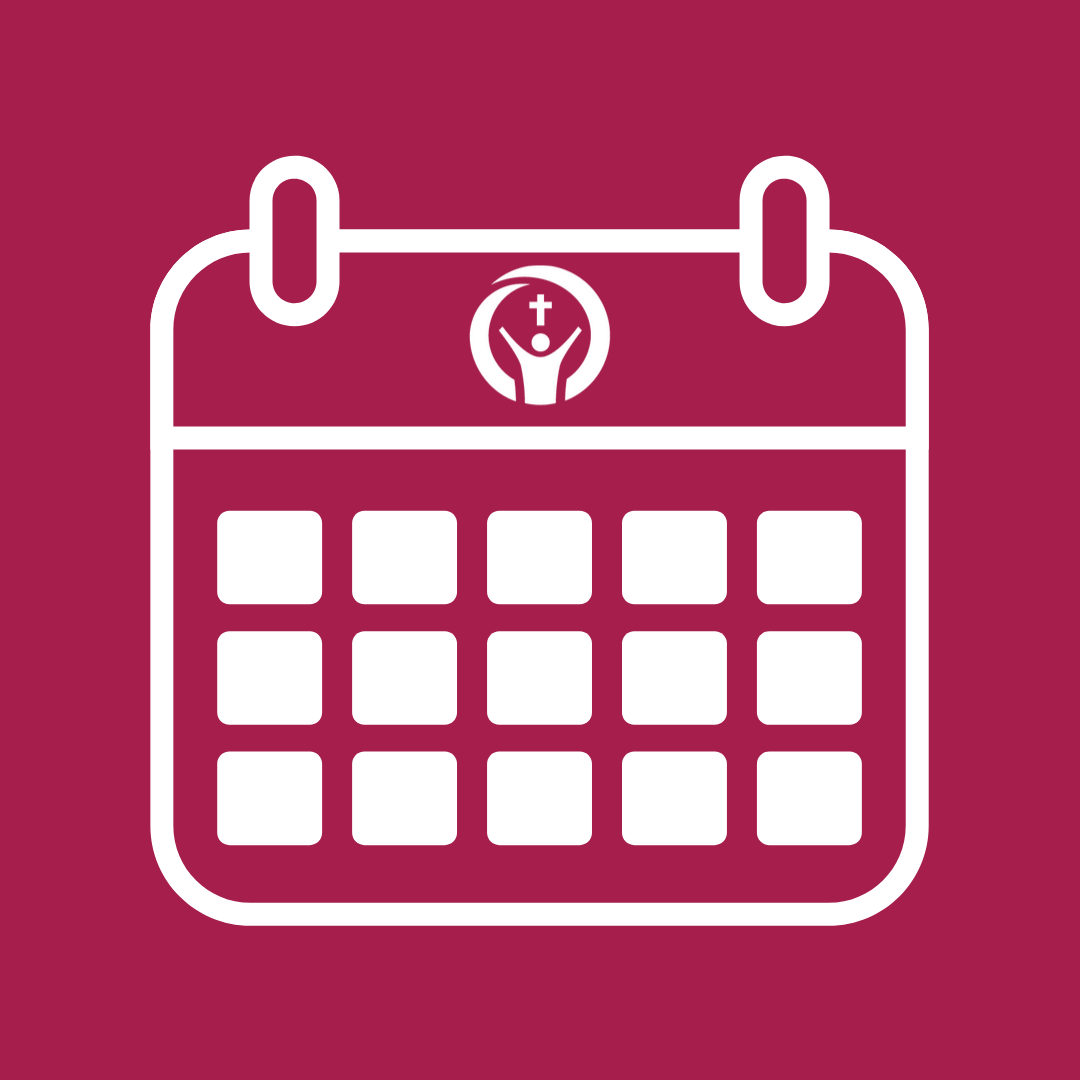 Icon of a calendar on a bright background