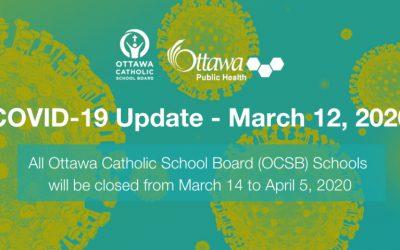 Novel Coronavirus Update – March 12, 2020