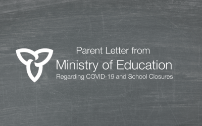 Parent Letter from the Ministry of Education from March 31