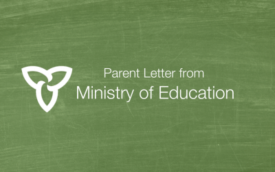 Letter from the Ministry of Education – April 28, 2020