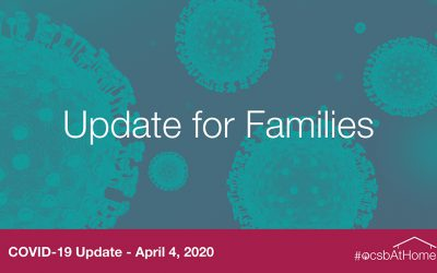 OCSB update for families – April 4, 2020