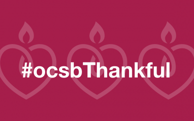 Who are you #ocsbThankful for?