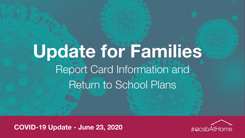Parent Update June 23, 2020