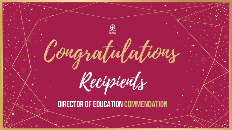 2020 Director of Education Commendation Award Recipients